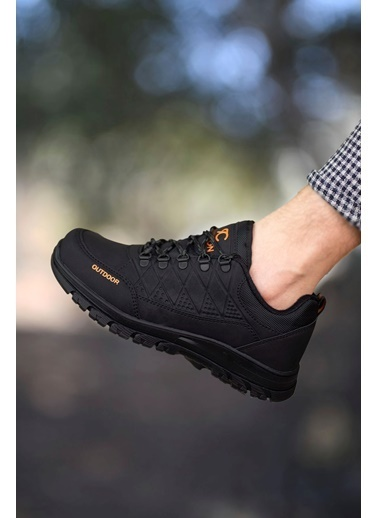 Riccon Haki Siyah Erkek Trekking Ayakkabı 0012114 Siyah